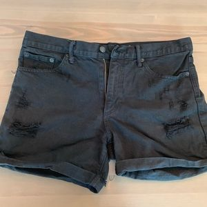 GAP black sexy boyfriend shorts distressed